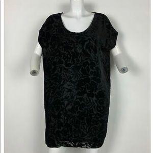 Aritzia Wilfred velvet and silk dress